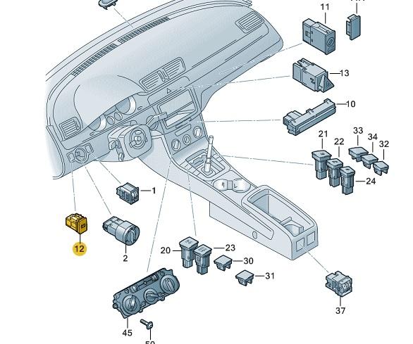 Electronic Parking Brake Switch Volkswagen Parts Uk