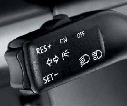 Cruise Control - Vehicles with Multi Function Display (MFD)