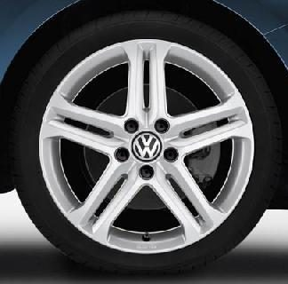 "Jetta [16] Silex Alloy Wheel - 17"" Sterling Silver"