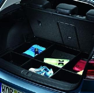 Golf [5G] Luggage Compartment Tray with Partition