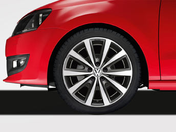 "Polo [6R] Syenit Alloy Wheel - 16"" Anthracite/Gloss Machined"