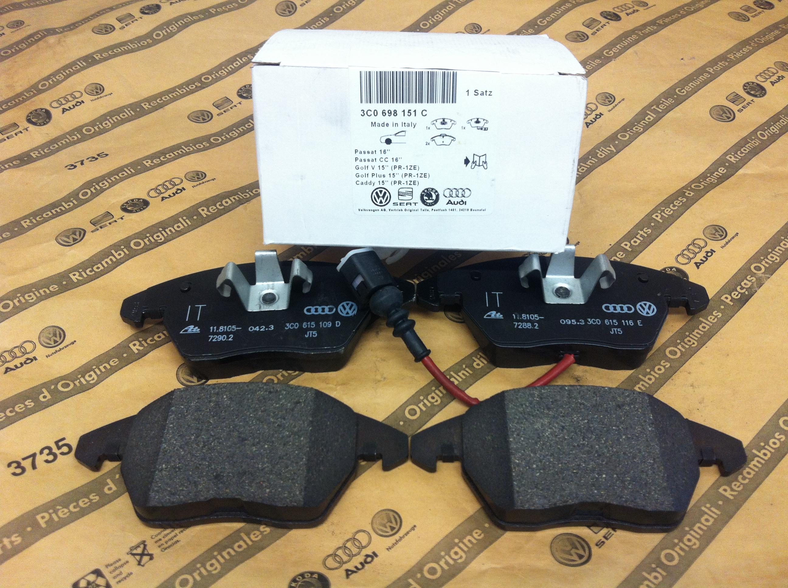 Front Brake Pads 3c0698151j Volkswagen Parts Uk